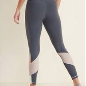 high-waisted color blocked mesh elevate leggings